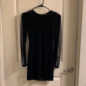 Black Velvet dress with studs